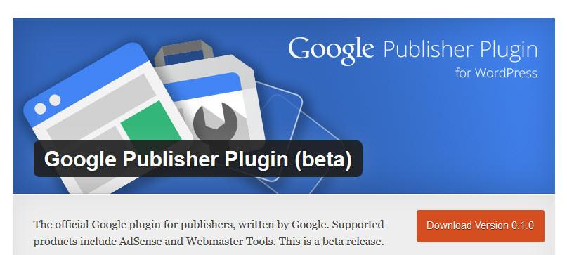 Google đã đổi tên plugin từ Google Publisher thành Google Adsense.