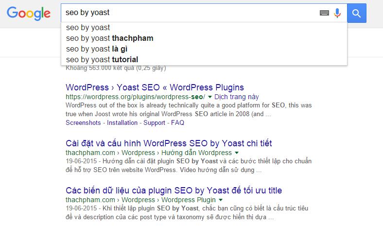 Google suggest có lợi cho mình